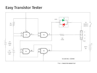 Easy Transistor Tester