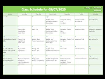 The Class Schedule