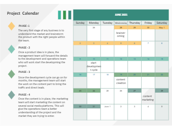 The Project Calendar