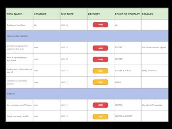 Team Work Task Arrangement
