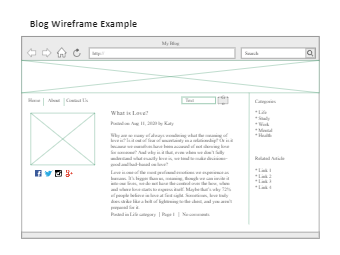 Blog Wireframe Example
