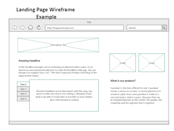 Landing Page Wireframe Example