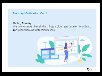 Tuesday Motivation Card