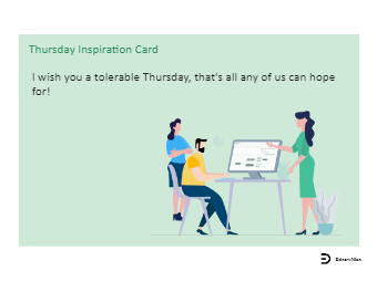 Thursday Inspiration Card