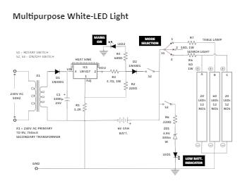 Multipurpose White-LED Light