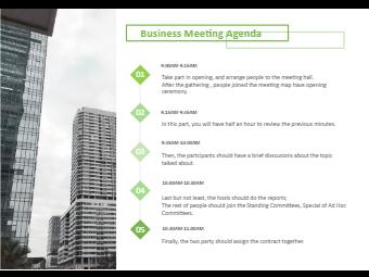 Business meeting agenda