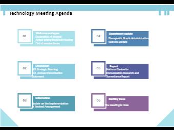 Technology Meeting Agenda