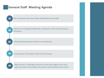 General Staff  Meeting Agenda