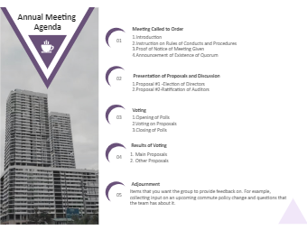 Annual Meeting Agenda