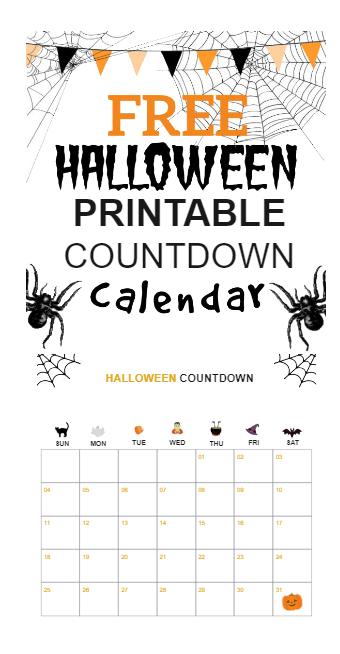 Halloween Printable Calander