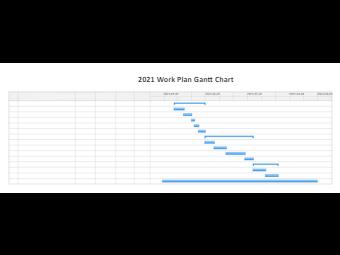 2021 Work Plan Gantt Chart