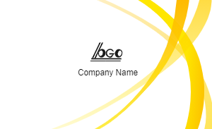 Yellow Style Business Card