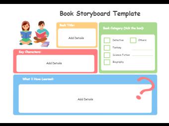 Book Storyboard Graphic Organizer