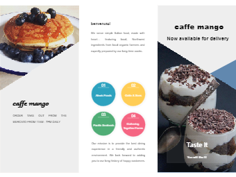 Cafe Food Brochure