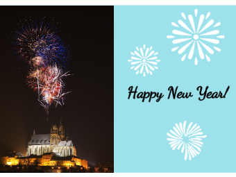 Firework New Year Card