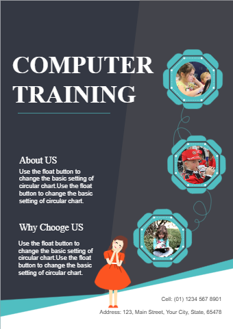 Computer Training School Flyer
