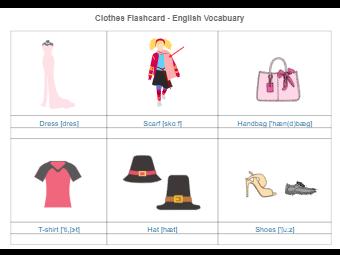 Clothes Flashcard
