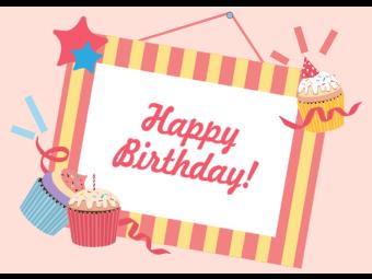 Cupcake Photo Frame Birthday Card