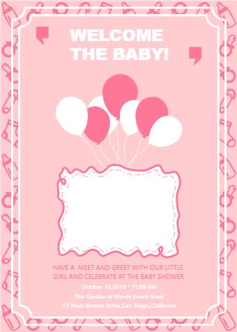 Customizable Baby Shower Invitation