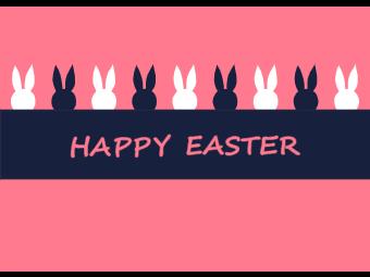 Cute Bunnies Easter Day Card