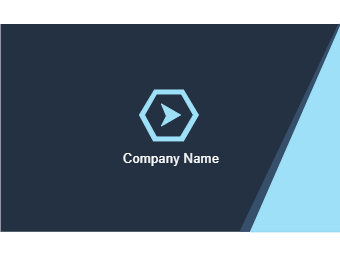 Blue Triangle Style Business Card