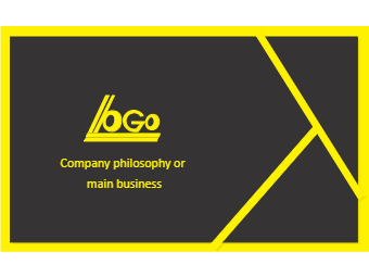 Yellow Line Business Card