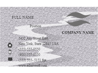 Frosted Effect Business Card Back