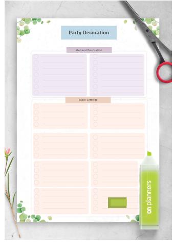 Party Decoration Checklist