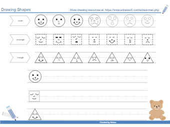 Drawing Shapes Worksheet