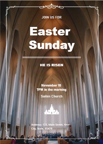 Easter Sunday Invitation