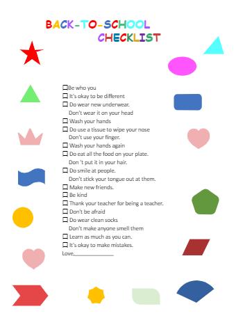School Preparation Checklist