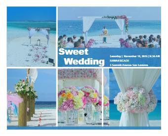 Beach Wedding Photo Collage