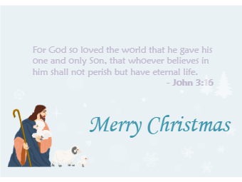 Bible Scriptures Christmas Card