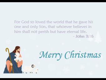 Bible Scriptures Christmas Card