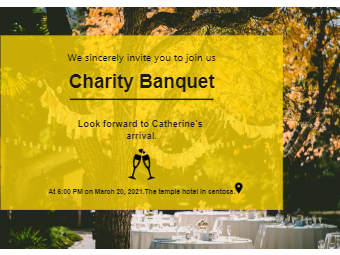 Charity Banquet Invitation