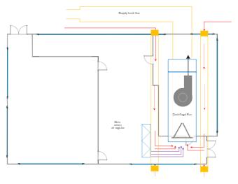 Centrifugal Fan HVAC Plan