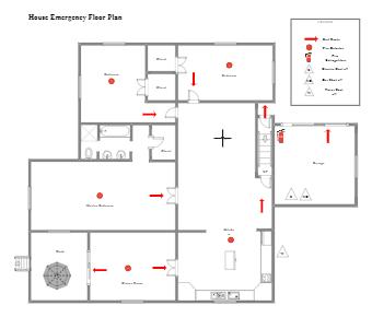 House Emergency Floor Plan