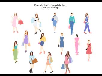 Female Body Template for Fashion Design