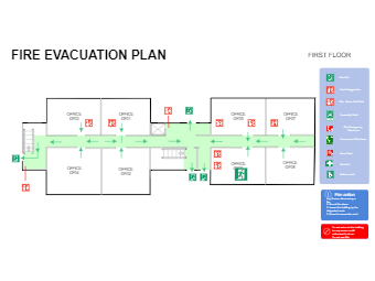 Office Area Evacuation Plan