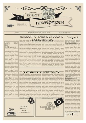 Newspaper Ad Template