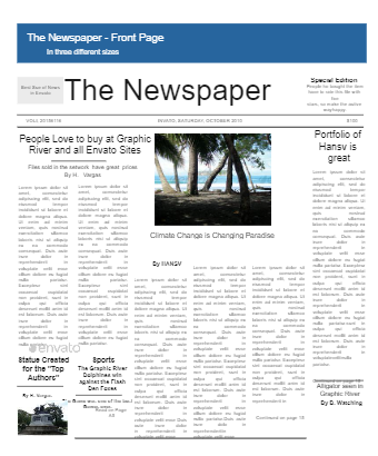 The Newspaper Front Page