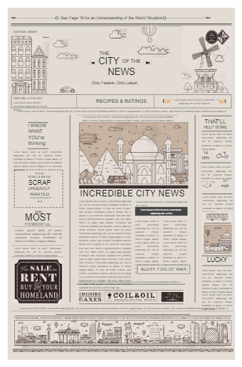 City Newspaper Template