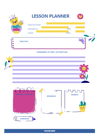 Preschool Spring Lesson Plan