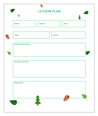 Green Style Lesson Plan
