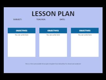 Lesson Plan Template Editable Online