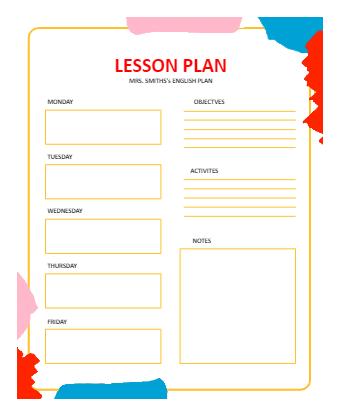 Modern Lesson Plan Template Online