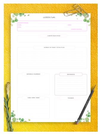 Printable Lesson Plan Template