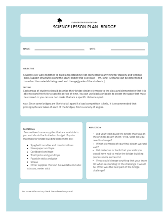 Science Lesson Plan Example