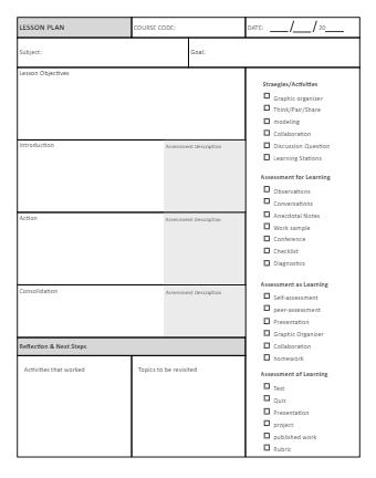Lesson Plan Strategy