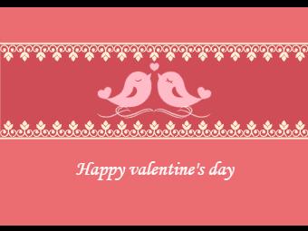 Love Bird Valentine's Day Card